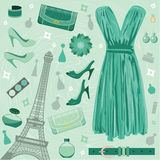 Paris fashion set Royalty Free Stock Images