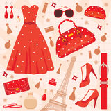 Paris fashion set Royalty Free Stock Photography