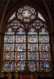 Paris - Fensterscheibenformular Notre- Damekathedrale stockfotografie