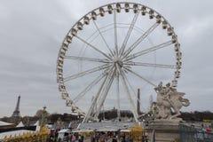 Paris. Ferris wheel. Royalty Free Stock Photos