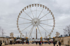 Paris. Ferris wheel. Royalty Free Stock Photo
