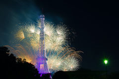 Paris fireworks Royalty Free Stock Photos