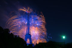 Paris fireworks Stock Photos