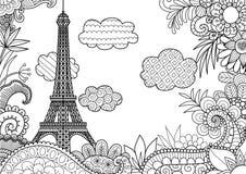 paris fjäder royaltyfri illustrationer