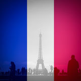 Paris flag colors Stock Photos