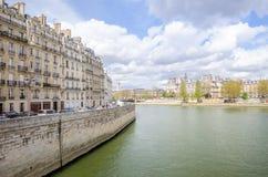 paris flod Royaltyfri Fotografi