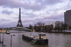 Paris Flooded By River Seine royalty free stock photo