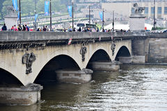 Paris floods with Seine river level dropped to normal Stock Photo