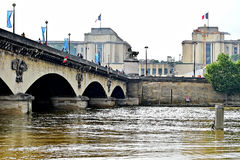 Paris floods with Seine river level dropped to normal Royalty Free Stock Photography