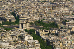 Paris. Flyg- sikt Royaltyfri Bild