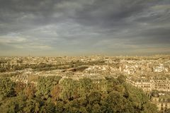 Paris flyg- sikt Royaltyfri Foto