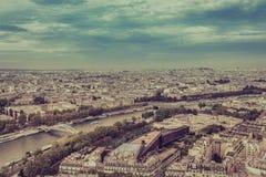 Paris flyg- sikt Fotografering för Bildbyråer