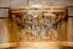 Paris fountain in Montmartre Sacre Coeur Stock Photography