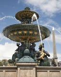 Paris - fountain from Place de la Concorde Stock Photos