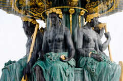 Paris Fountain Place de la Concorde Royalty Free Stock Image