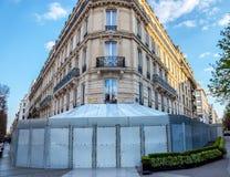 Paris: Fouquet ap?s registrar por vestes amarelas fotografia de stock royalty free