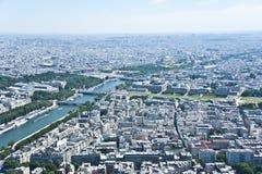 Paris från över. Royaltyfri Foto