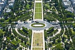 Paris från över Royaltyfri Bild
