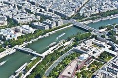 Paris från över Fotografering för Bildbyråer