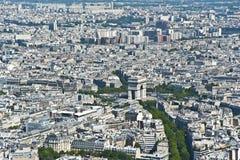 Paris från över Arkivbild