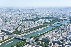 Paris från över Arkivfoton