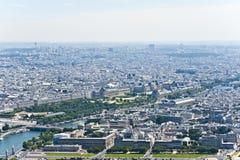Paris från över. Arkivbild