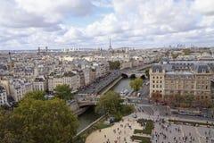 Paris från kick metar beskådar arkivbilder