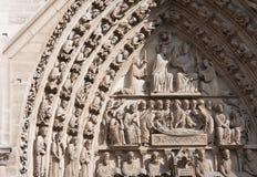 Paris. Fragment av Notre Dame Royaltyfri Bild
