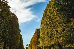 PARIS, FRANÇA - 30 DE AGOSTO DE 2015: Esculturas de bronze do parque de Paris da pessoa famosa Foto de Stock Royalty Free