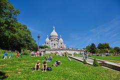Paris, França - 28 de junho de 2015: Catedral de Sacre Coeur imagem de stock