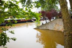 PARIS, FRANÇA - 4 de junho de 2016: As inundações as mais más em um hav do século Foto de Stock Royalty Free
