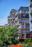 Paris, França - 28 de junho de 2015: Eco-Quartier Clichy-Batignolles imagem de stock