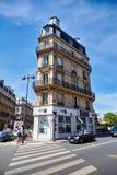 Paris, França - 29 de junho de 2015: Rue de Vienne imagem de stock