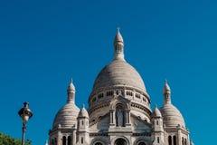 Paris, França - 20 de maio de 2017: Basílica de Montmartre A basílica imagens de stock