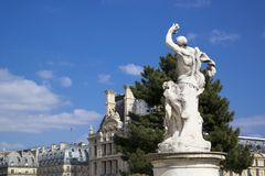 PARIS, FRANÇA - 22 DE MARÇO DE 2016: jardim famoso de Tuileries Tuileri Imagens de Stock Royalty Free