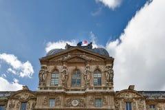 Paris, França 11 de outubro 2017 O Louvre ou o museu do Louvre, são o museu de arte o maior do ` s do mundo e um monumento histór Fotografia de Stock Royalty Free