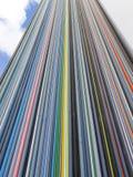 PARIS, FRANÇA - EM OUTUBRO DE 2012: Coluna de Moretti na defesa do La Fotografia de Stock