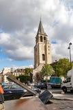 PARIS, FRANÇA, O 25 DE ABRIL DE 2016 A igreja de St Germain em Paris Imagem de Stock Royalty Free