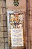 PARIS, FRANÇA, o 23 de abril de 2016 Interior dos detalhes da catedral de Notre Dame Imagens de Stock