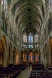 PARIS, FRANÇA, O 24 DE ABRIL DE 2016 Nave principal da abadia de pres do DES de Sant Germano imagem de stock royalty free