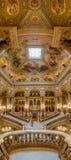 Paris, França, o 31 de março de 2017: Vista interior de Opera de nacional Paris Garnier, França Foi construído desde 1861 a Foto de Stock