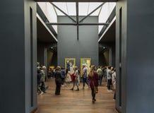 Paris, França, o 28 de março de 2017: Interior do ` Orsay de Musee d em Paris, França O ` Orsay de Musee d é abrigado no anterior Fotos de Stock Royalty Free
