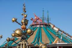 Paris, Fran?a 14 de janeiro de 2019: Fanstasyland em Disneyland Paris, cidade feericamente de Fran?a fotos de stock