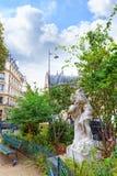 Paris.France中世纪街道。 免版税库存图片