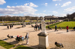 PARIS, FRANCE � MARCH 05, 2014: People enjoying the beginning Royalty Free Stock Image