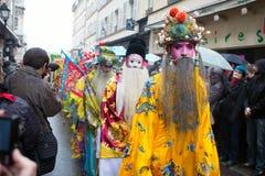 PARIS, FRANCE - 10 DE FEVEREIRO: Ano novo chinês Imagem de Stock Royalty Free