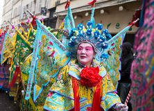 PARIS, FRANCE - 10 DE FEVEREIRO: Ano novo chinês Foto de Stock Royalty Free