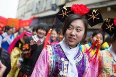 PARIS, FRANCE - 10 DE FEVEREIRO: Ano novo chinês Fotos de Stock Royalty Free