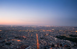 Paris - France. View of Paris by night - France Royalty Free Stock Photography