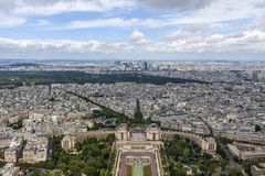 Paris, France. Aerial view over Paris, France Royalty Free Stock Photo